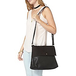 Dorothy Perkins - Black suede mix crossbody bag