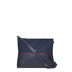 Dorothy Perkins - Navy faux suede crossbody bag