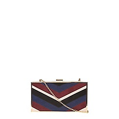 Dorothy Perkins - Red mix panelled box clutch