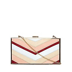 Dorothy Perkins - Blush mix panelled box clutch