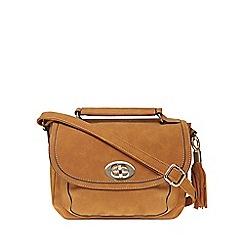 Dorothy Perkins - Tan tassel front satchel