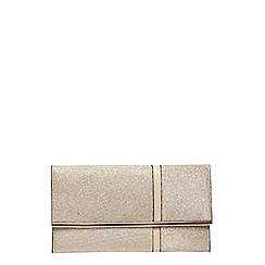 Dorothy Perkins - Gold asymmetric clutch bag