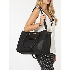 Dorothy Perkins - Black zip front tote bag