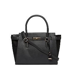 Dorothy Perkins - Black belted wing tote bag