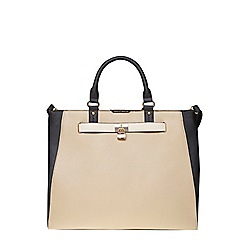 Dorothy Perkins - Neutral belted oversized tote