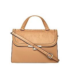 Dorothy Perkins - Tan top handle satchel bag