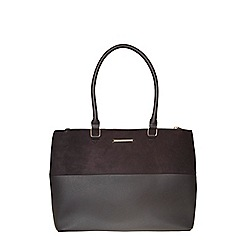 Dorothy Perkins - Black double zip tote