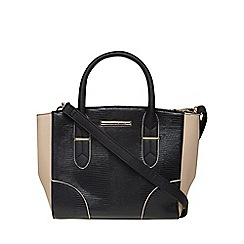 Dorothy Perkins - Black and blush mini tote bag