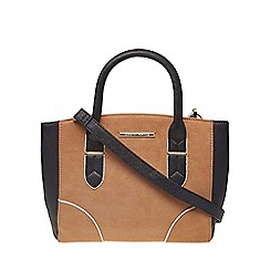 Dorothy Perkins - Tan mix mini curve tote bag