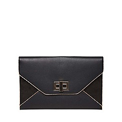Dorothy Perkins - Black twist lock clutch bag