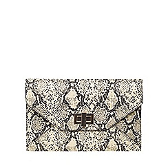 Dorothy Perkins - Snake twist lock clutch bag