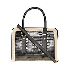Dorothy Perkins - Black faux croc boxy tote bag