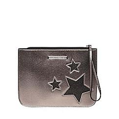 Dorothy Perkins - Silver star wristlet clutch bag