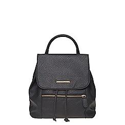 Dorothy Perkins - Black zip front backpack