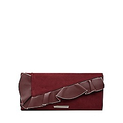Dorothy Perkins - Berry frill clutch bag