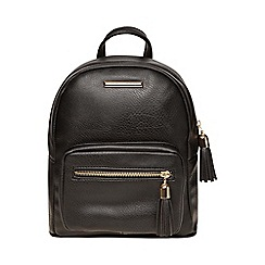 Dorothy Perkins - Black zip around backpack