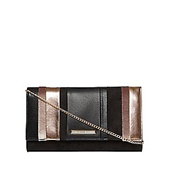 Dorothy Perkins - Black stripe clutch