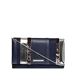Dorothy Perkins - Navy stripe clutch