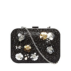 Dorothy Perkins - Black flower box clutch