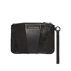 Dorothy Perkins - Black panel wristlet