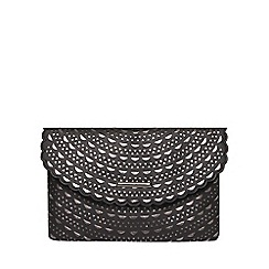 Dorothy Perkins - Black laser cut clutch bag