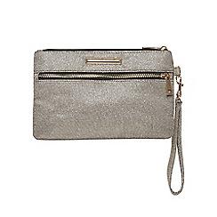 Dorothy Perkins - Grey zip front wristlet bag