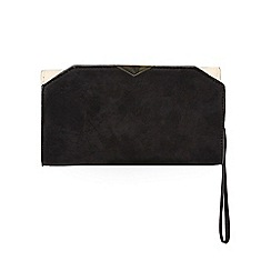 Dorothy Perkins - Black triangle bar wristlet bag