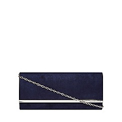 Dorothy Perkins - Navy large structured clutch bag