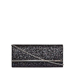 Dorothy Perkins - Teal glitter structured clutch