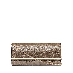 Dorothy Perkins - Gold structured clutch bag
