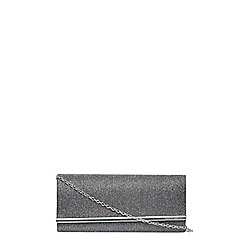 Dorothy Perkins - Pewter structured clutch