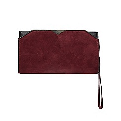 Dorothy Perkins - Berry triangle bar wristlet bag