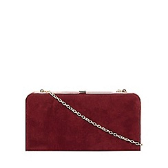 Dorothy Perkins - Berry faux suede box clutch