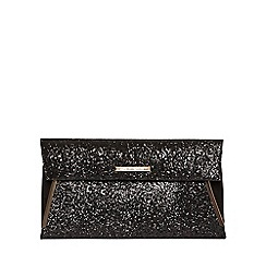 Dorothy Perkins - Black tuck bar clutch