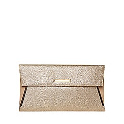 Dorothy Perkins - Gold tuck bar clutch