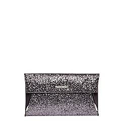 Dorothy Perkins - Grey tuck bar clutch