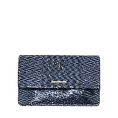 Dorothy Perkins - Navy sequin foldover clutch