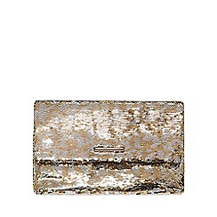 Dorothy Perkins - Silver two tone sequin clutch