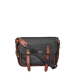 Dorothy Perkins - Black piped satchel cross body