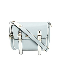 Dorothy Perkins - Pale blue piped satchel bag