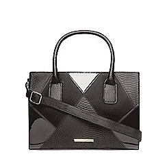 Dorothy Perkins - Black patchwork tote bag