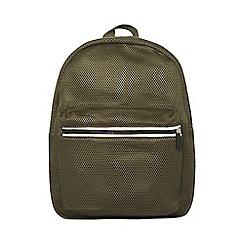 Dorothy Perkins - Khaki mesh backpack