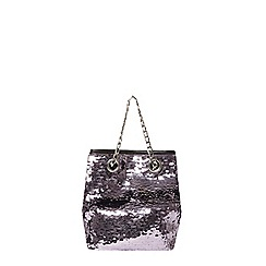 Dorothy Perkins - Pewter sequin chain pouch