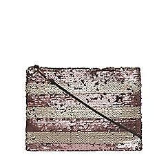 Dorothy Perkins - Blush sequin stripe crossbody bag
