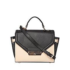 Dorothy Perkins - Black top handle satchel bag