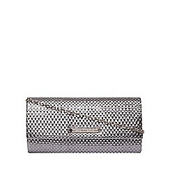 Dorothy Perkins - Pewter weave clutch bag