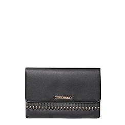 Dorothy Perkins - Black fringe clutch