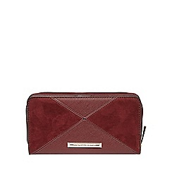 Dorothy Perkins - Berry panel zip around purse