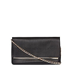 Dorothy Perkins - Black pouch bar clutch bag