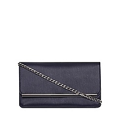 Dorothy Perkins - Navy pouch bar clutch bag
